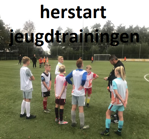 Herstart jeugdtrainingen
