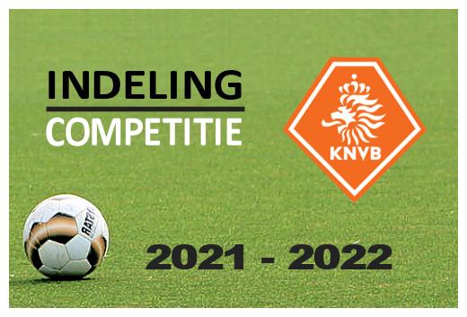 Indelingen seizoen 2021-2022