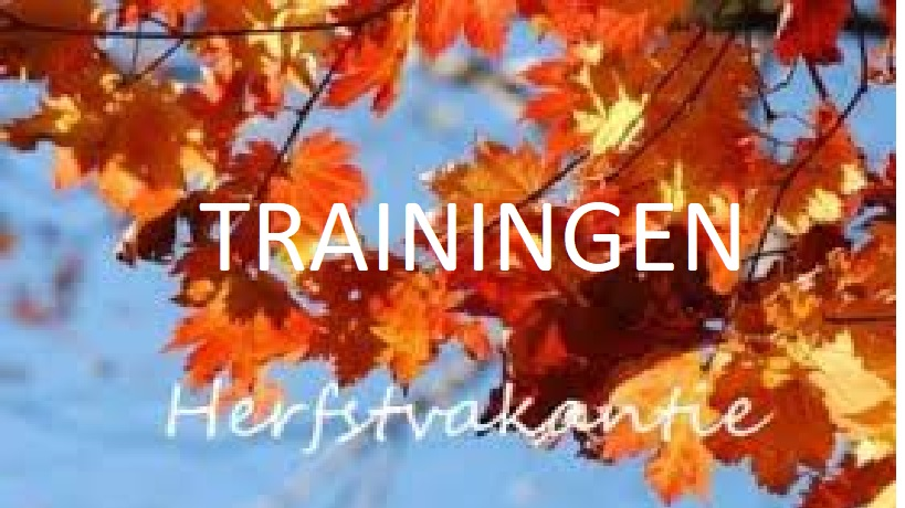 Trainingen herfstvakantie