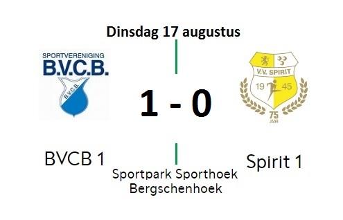 Goed spelend Spirit verliest toch eerste oefenwedstrijd van het seizoen: 1-0