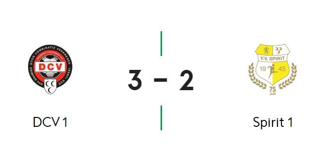 Gehavend Spirit laat 'gewonnen' wedstrijd tegen DCV uit handen glippen: 3-2