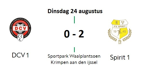 Spirit wint met 0-2 van DCV (Hollandsche IJssel Cup)
