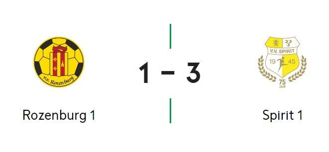 Spirit pakt ook 3 punten bij Rozenburg: 1-3