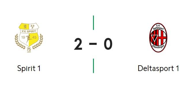 Spirit wint met 2-0 van Deltasport
