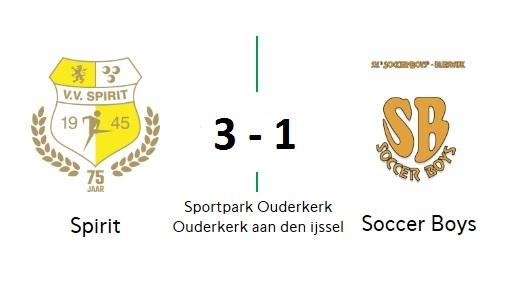 Spirit geen probleem met Soccer Boys: 3-1