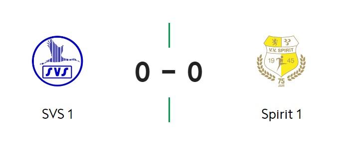 SVS en Spirit vermaken publiek niet: 0-0